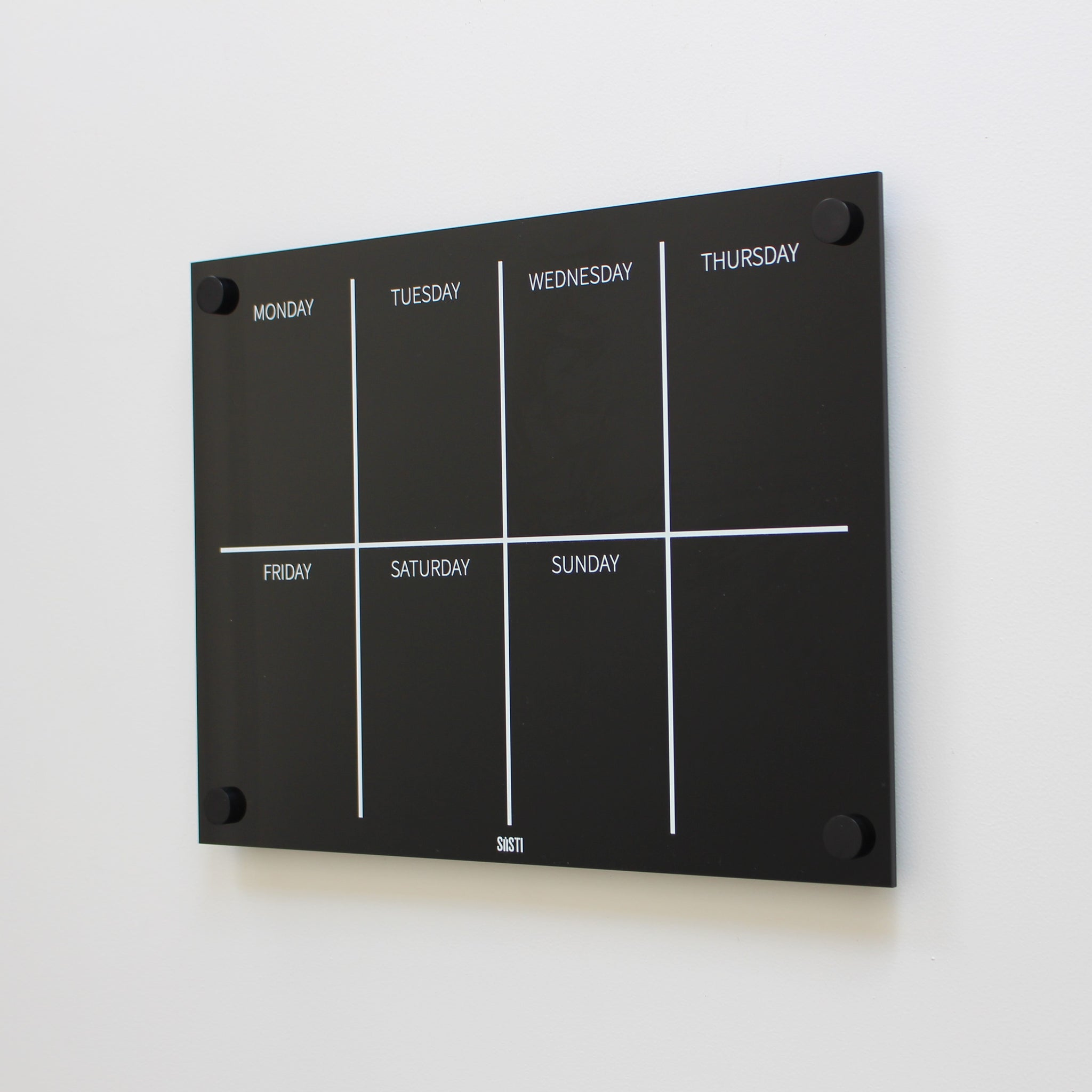 Landscape Weekly Wall Planner - BLACK