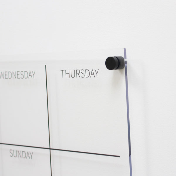 weekly wall planner clear acrylic landscape