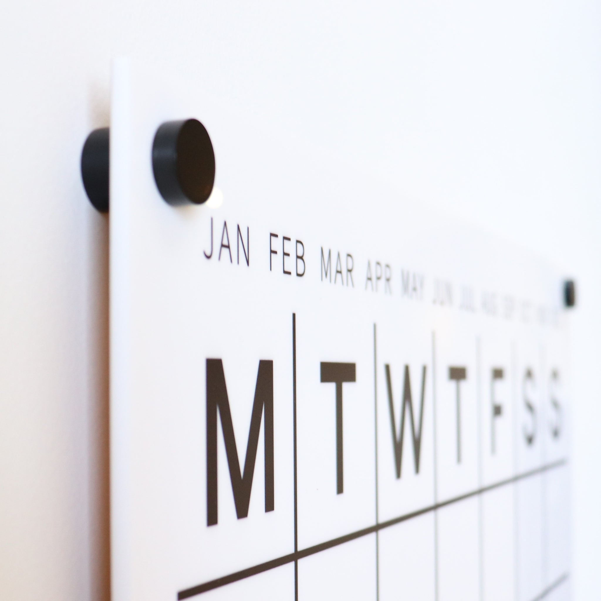 Perpetual Wall Calendar with Note Space - WHITE