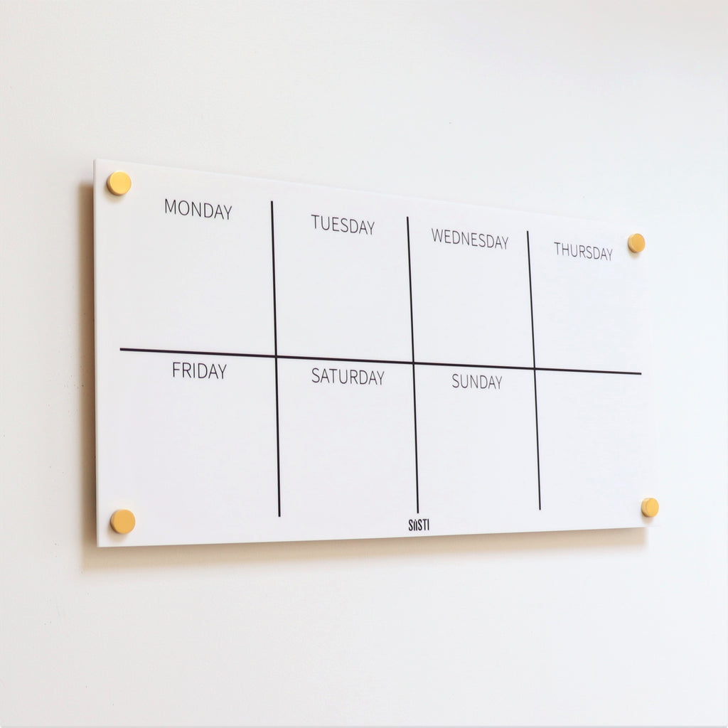 Landscape Weekly Wall Planner - WHITE