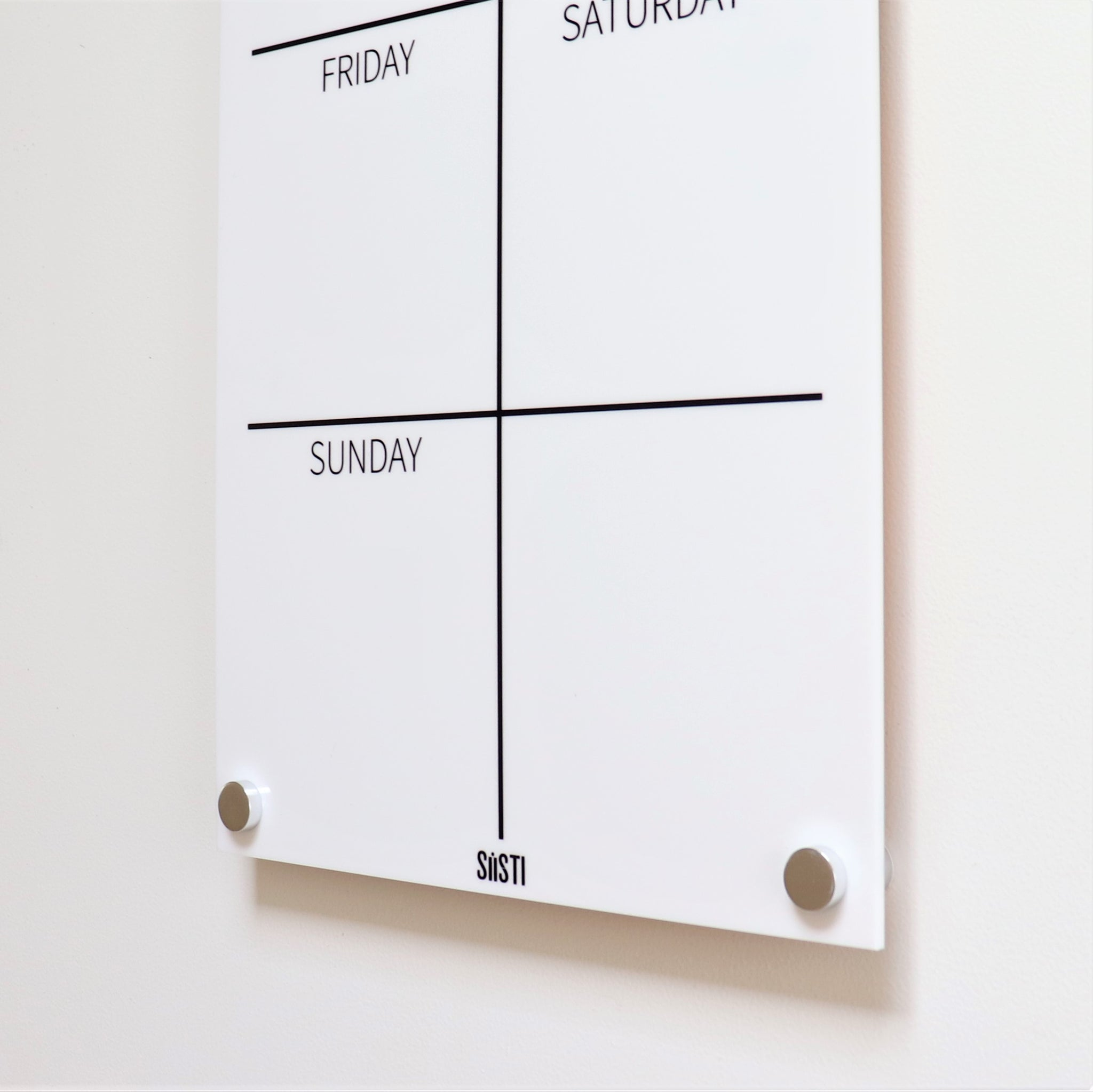 Portrait Weekly Wall Planner - WHITE