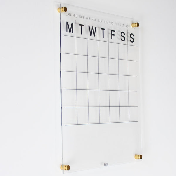 acrylic perpetual wall calendar large size