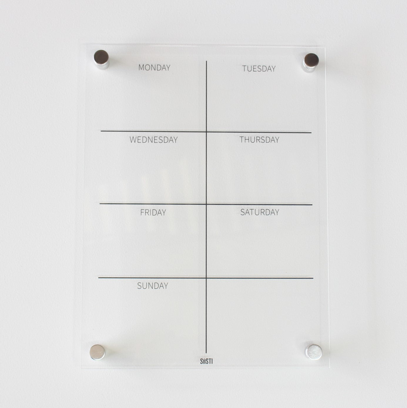Portrait Weekly Wall Planner - CLEAR