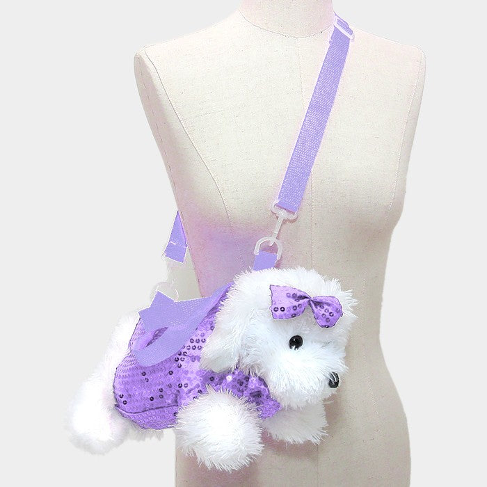 Purple Dog Kiddie Purse