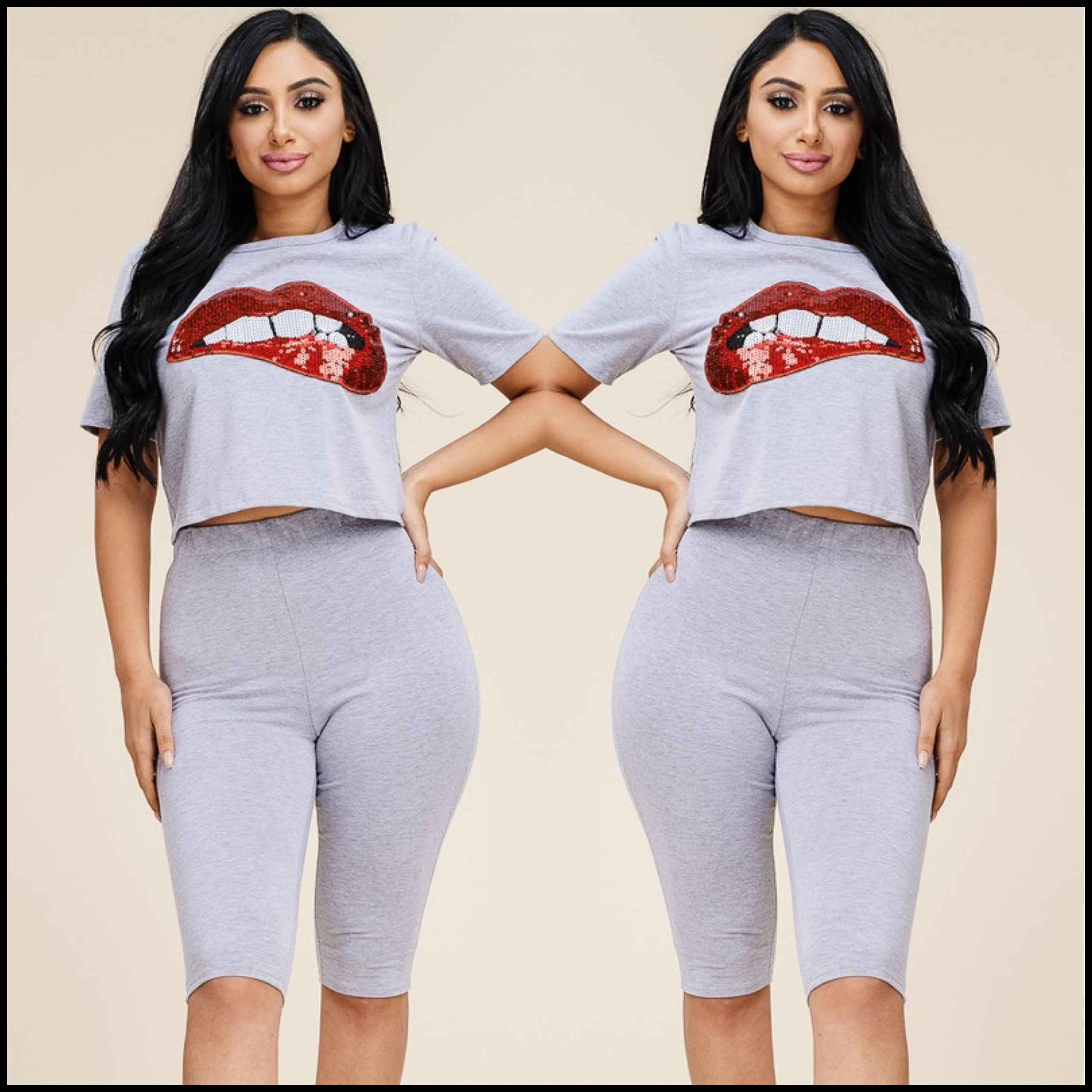 Ms. Lips 2-Piece Set