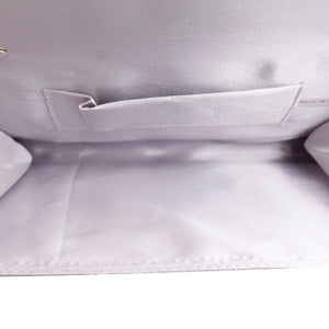 Silver Crystal Clutch