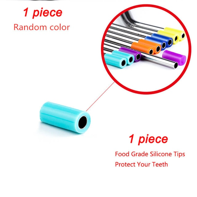 2/4/8Pcs Colorful Reusable Drinking Straw