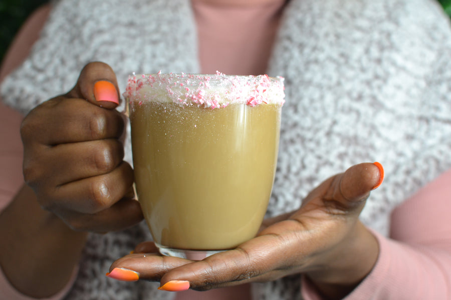 Homemade Peppermint Latte with Caribbrew's Medium Roast Haitian Coffee