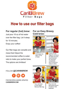 Coffee Filter Bag (hot and cold brew)