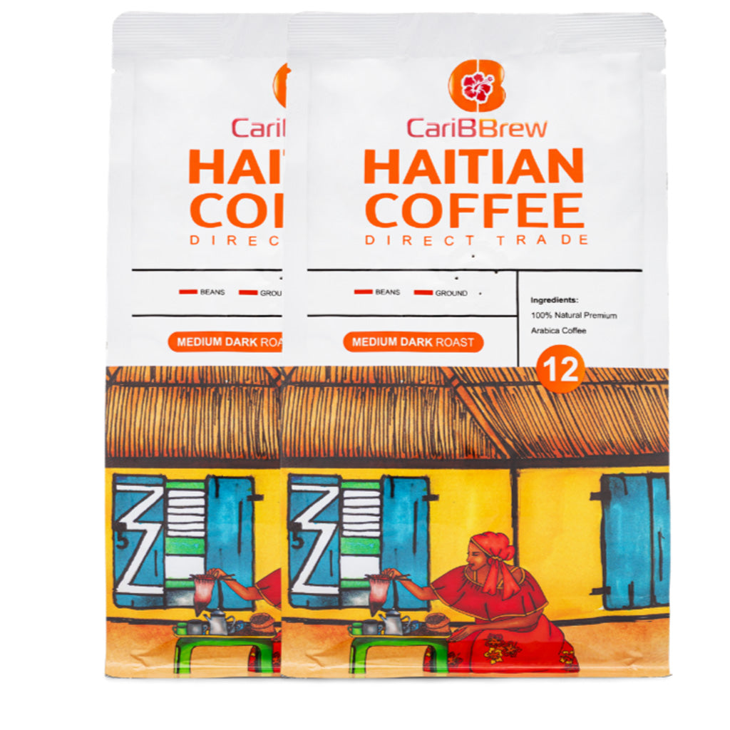 Medium Roast Haitian coffee 2 bags bundle 12 oz