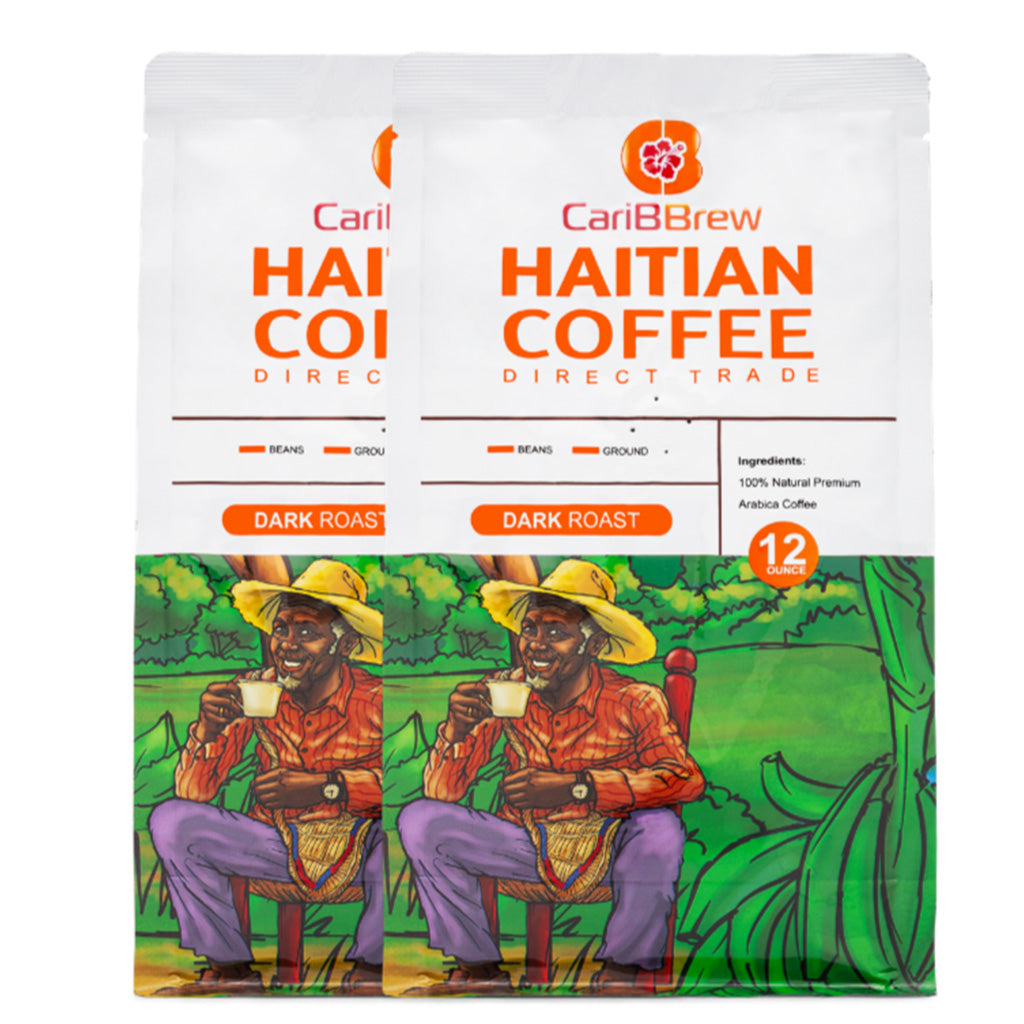 Dark Roast Haitian coffee 2 bags bundle 12 oz