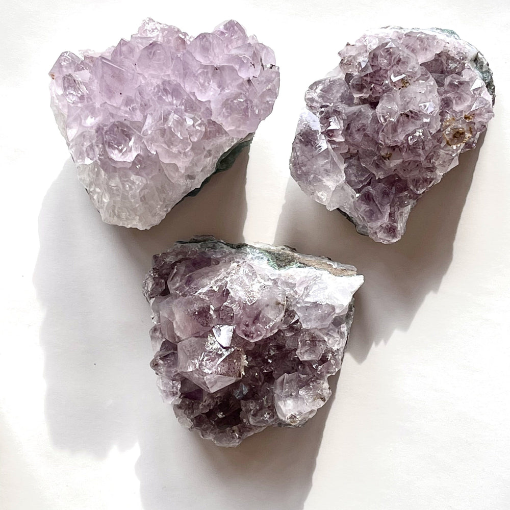 Load image into Gallery viewer, Erin Marcus Designs Crytsal Amethyst Clusters