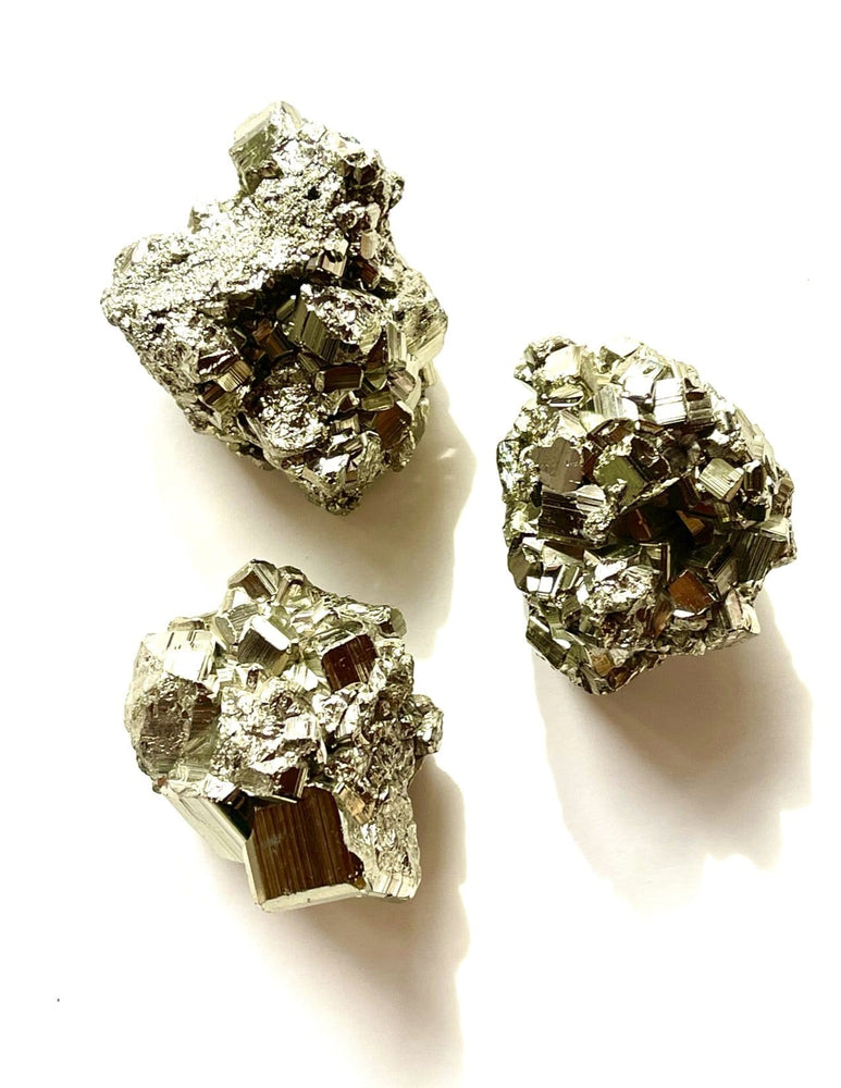 Erin Marcus Designs Crytsal Pyrite Clusters
