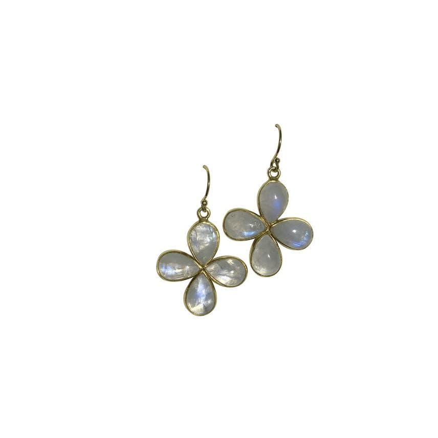 Erin Marcus Designs Earrings Moonstone Flower Earrings