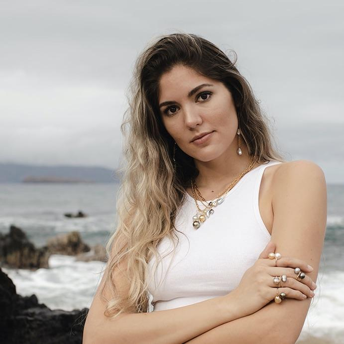 Erin Marcus Designs Necklace Heaviest Paper Clip Chain with Pearls