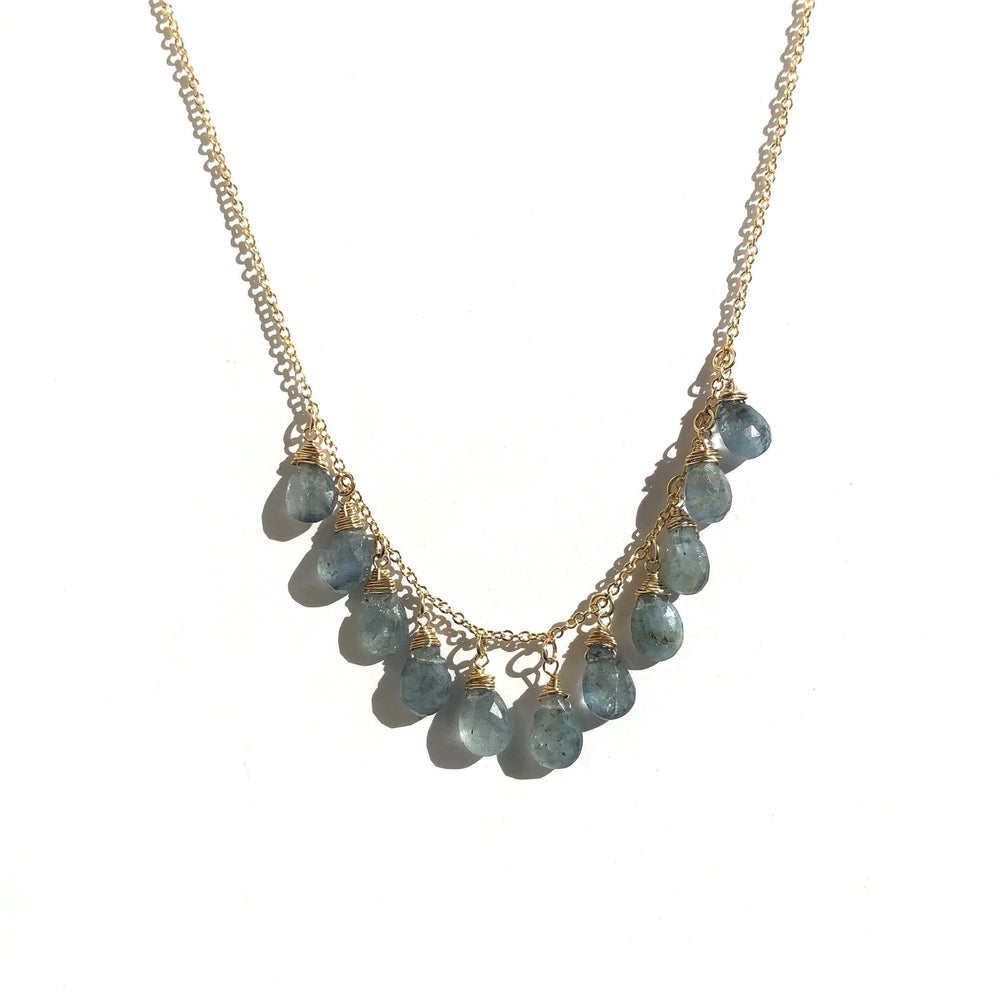 Erin Marcus Designs Necklace Moss Aquamarine MultiStone Necklace