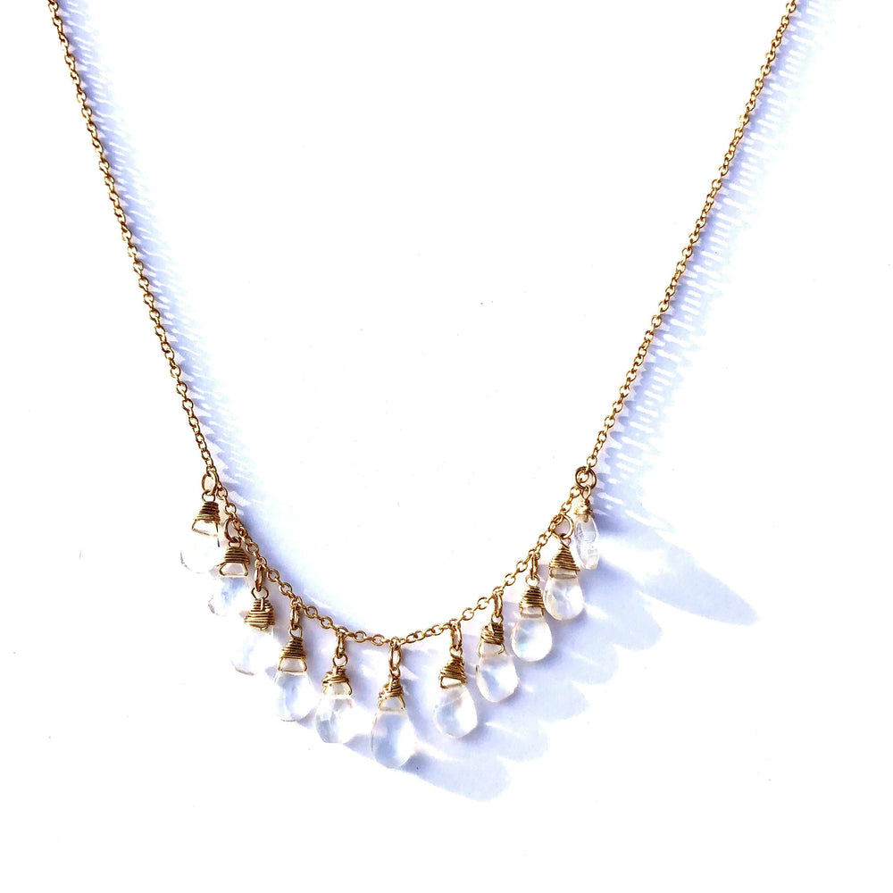 Load image into Gallery viewer, Erin Marcus Designs Necklace MultiStone Moonstone Teardrop Necklace