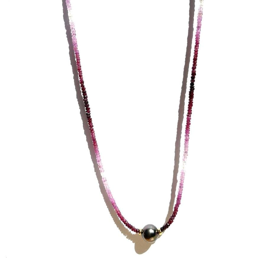 Erin Marcus Designs Necklace Single Tahitian with Rubies