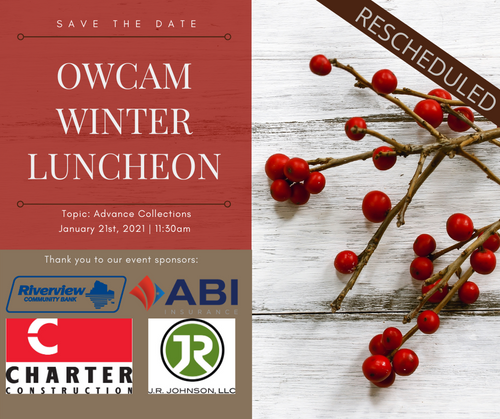Rescheduled Winter Luncheon From 2020