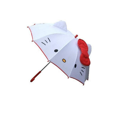 Hot Lovely Cartoon Hello Kitty Children Anime Umbrella for Kids Girl Cute Umbrella Baby Student White Umbrella Free Shipping