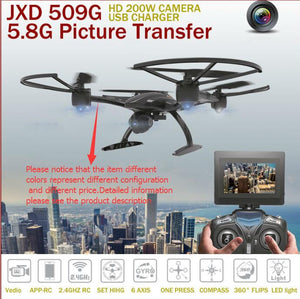 RC Helicopter JXD 509 509W 509G RC Drone 2.4Ghz 5.8Ghz FPV RC Quadcopter With HD Camera