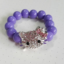 Acrylic Bead Hello Kitty Bracelete for Kids Pulseiras Mujer Handmade Stretch Bracelets for Children
