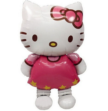116*65cm Hello Kitty Cat Foil Balloons 3 Size Large Medium &Kitty head birthday decoration wedding party inflatable air balloons