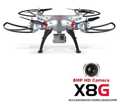 SYMA X8G Headless Mode 2.4GHz 6 axis RC Quadcopter drone with 8.0MP Camera 3D Roll Remote Control toys drone