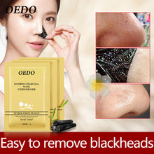 3PCS OEDO Brand Skin Care Bamboo Charcoal Masks East to Remove Blackheads Moisturizing Face Clean Blackhead Peel Off Mask