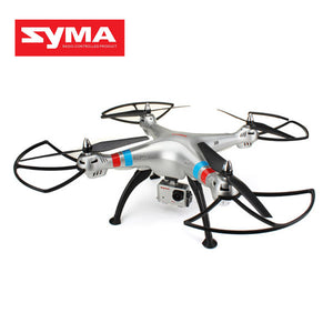SYMA X8G Drone RC Quadcopter RTF RC Helicopter 2.4G 4CH 6 Axis With 8MP Wide Angle HD Camera 360 Degree Rotating Silver Color