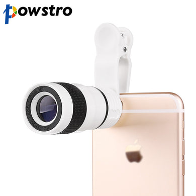 Powstro 8X Zoom Telescope Telephoto Camera Lens with Clip for smartphone