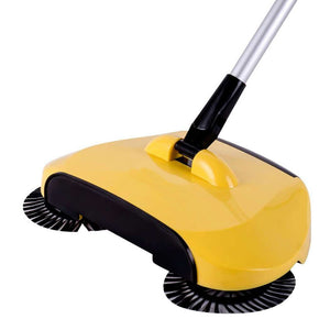 Multi-function 3 in 1 Household Cleaning Lazy Hand Push Sweeper Broom Dustpan Trash Bin 360° Rotating Floor Cleaning Mop