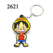 FASHION Hot Anime Dragon Ball key chain cartoon Luffy naruto KeyChain Animal Tokyo Ghoul Wukong chains bag Joba Key Ring