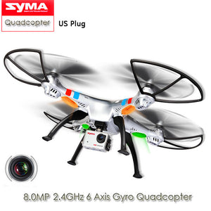 2017 SYMA X8G Drone Headless Mode 2.4GHz 6 Axis Gyro RC Quadcopter with 8.0MP Camera 3D Roll Stumbling Function EU Plug