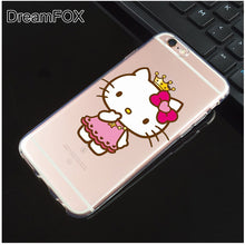 L058 Hello Kitty Soft TPU Silicone  Case Cover For Apple iPhone X 8 7 6 6S Plus 5 5S SE 5C 4 4S