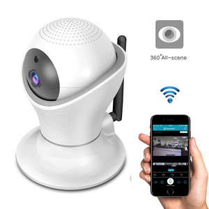 Wireless Panoramic Security Night Vision Baby Monitor - 1080P Wifi IP Camera 360 Degrees