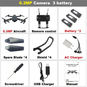 Teeggi M68 FPV RC Foldable Quadcopter Drone With Wide Angle HD Camera High Hold Mode