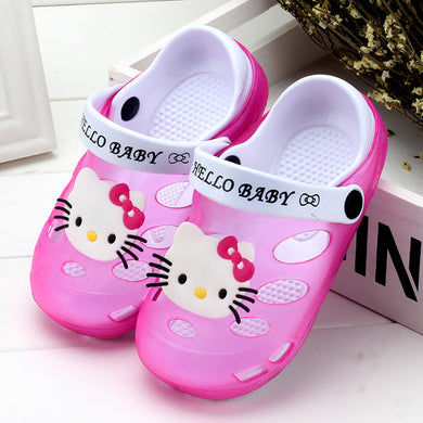 2018 Summer Baby Girl Sandals Shoes Children Hello Kitty Shoes Toddler Girls Sandals Kids Slides Slippers Sandals EU 24-35 Soft