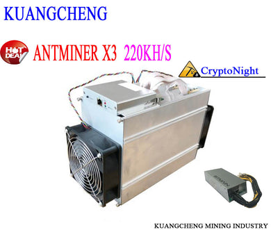 Antminer X3 220 KH/S The Newest Bitcoin CryptoNight Miner Mining ASIC Chip KRB ETN XMC DCY BCN