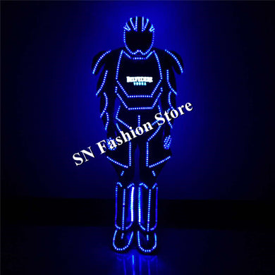 QZ14 dance led costume luminous light wearable singer dj robot suit bar club stage show helmet