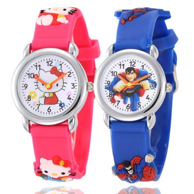 Hello Kitty Cartoon Watch for Kids Fashion Casual Boy Girl Sports Quartz Watches Childrens Wristwatch Clock Relojes Relogio