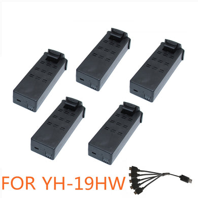 5pcs Battery For Yh 19hw Drone