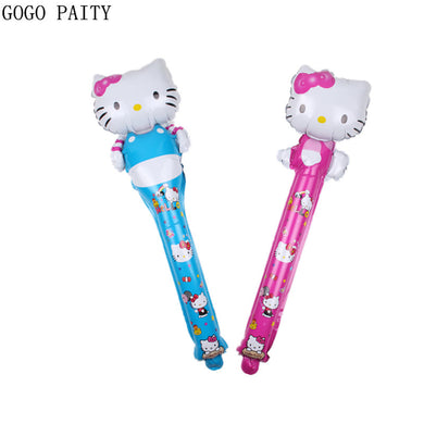 GOGO PAITY   New mini hello Kitty modeling hand-held aluminum balloons children's holiday party decoration balloons wholesale
