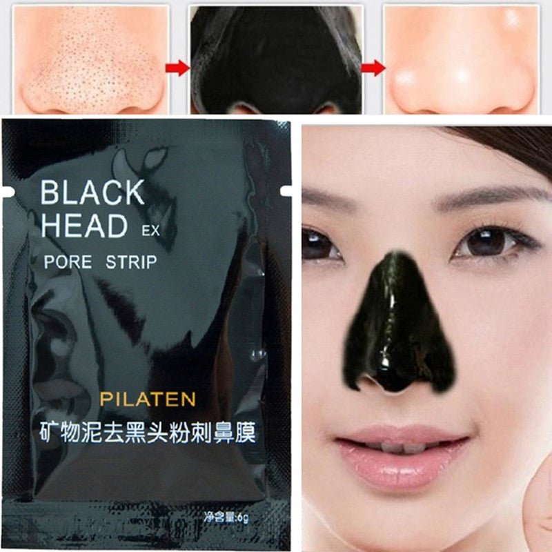 1pcs pilaten Face Beauty Care Nose Facial Blackhead Remover Makeup Mask Black Head Peel Off Minerals Mud Pore Cleanser 6g