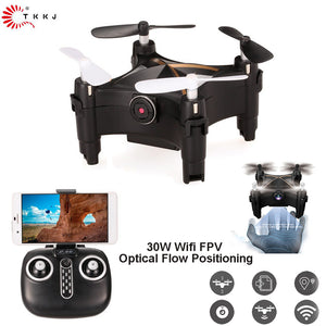 TKKJ L602 RC Drone 0.3MP HD Camera Wifi FPV Optical Flow Positioning Drone Altitude Hold One Key Return G-sensor RC Quadcopter