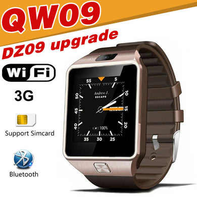 QW09 Smart watch DZ09 Android Upgrade Bluetooth Mobile Phone Smartwatch 3G WIFI Watch Call SMS Facebook Alarm For Android xiaomi