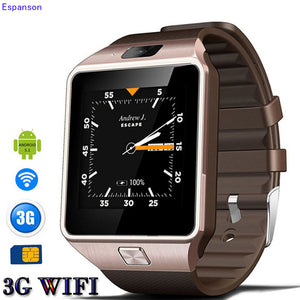 Espanson QW09 Smart Watch WristWatch Support WIFI Bluetooth 4.0 3G GPS SIM Camera Sport Pedometer Sleep Monitor Track Smartwatch