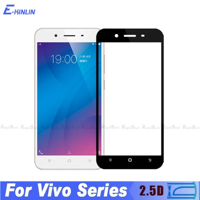 2.5D Full Cover Tempered Glass For Vivo V5 Lite V5s V7 Plus V9 Youth Y55 Y65 Y67 Y75 Y79 Y85 Screen Protector Protective Film