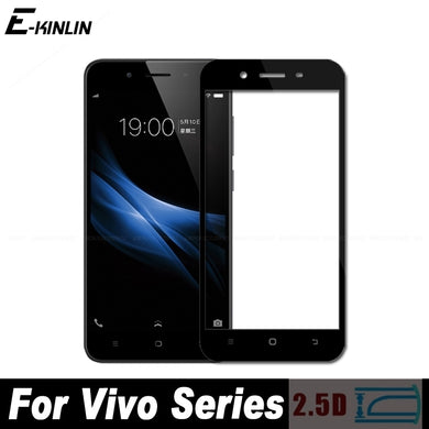 2.5D Full Cover Tempered Glass Screen Protector Protective Film For Vivo V9 Youth V7 V5s V5 Plus Lite Y85 Y79 Y75 Y67 Y65 Y55