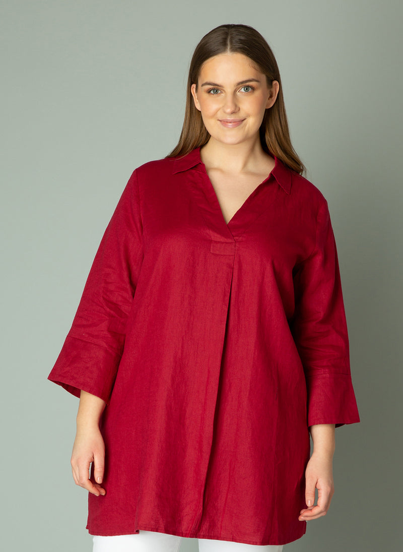 The Janet Tunic Top - Port